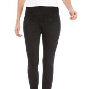 THE LIMITED Seamed Faux Suede Leggings Medium Blac